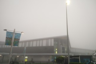 A foggy Christchurch airport