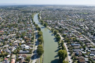 Aerial image of Christchurch suburbs Flickr NZ Defence Force 2