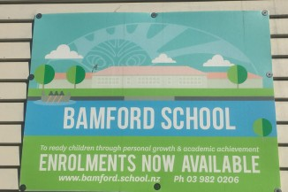 Bamford School sign