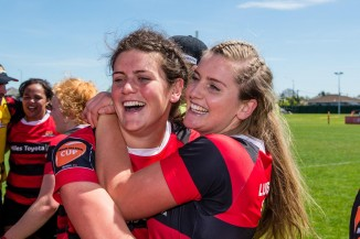 Chelsea and Alana Bremner, Canterbury rugby representatives.