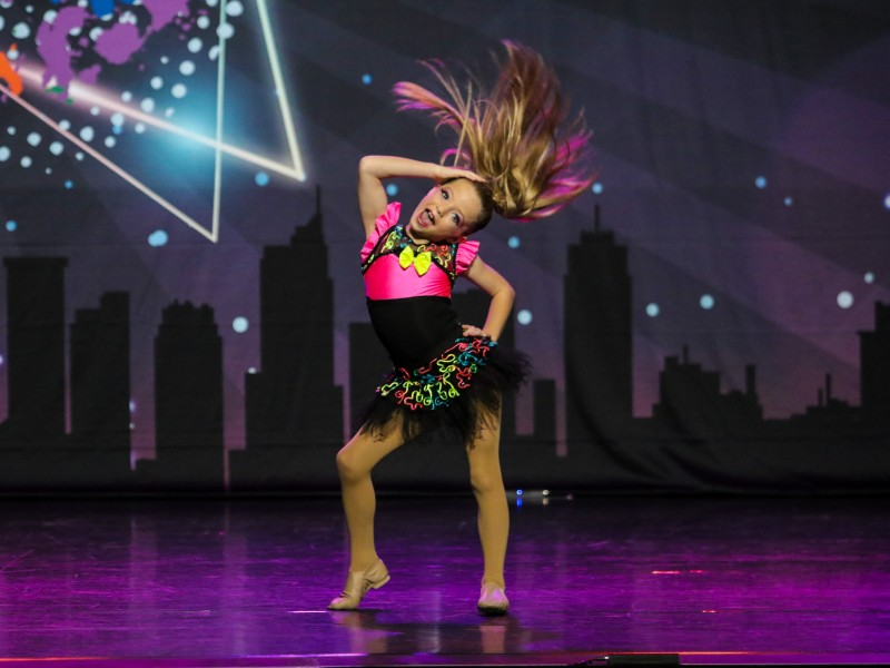 Freya Hall, 8, at Evolution Dance Finals