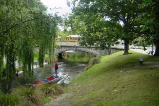 Punting on the River Avon in Christchurch NZ