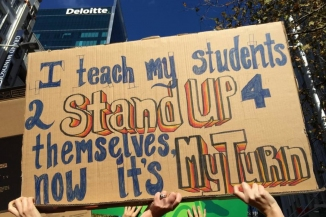 Teacher's strike sign