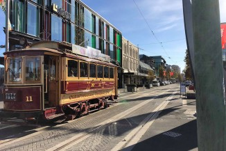 Tram in High St