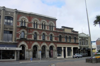 Venetian buildings in Tuam Street Christchurch NZ