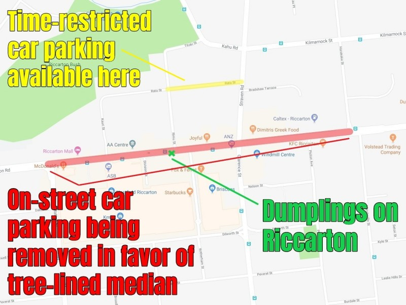 riccarton road map