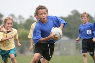 young kid rugby